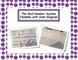The Real Number System Foldable with Venn Diagrams