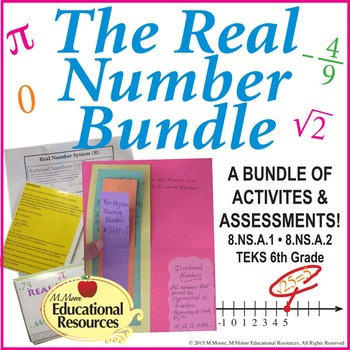 Real Number System - Complete BUNDLE - Activities, Printables, Quiz, & More!