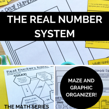 The Real Number System - Maze & Graphic Organizer/Sort!