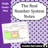 The Real Number System Notes (6.2A, 7.2A, 8.2A, 8.2B)