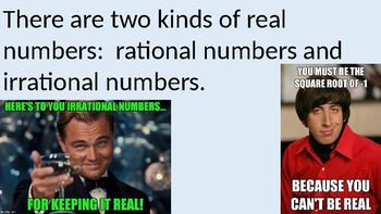 The Real Number System PowerPoint