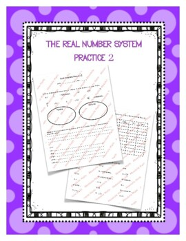 The Real Number System Practice 2