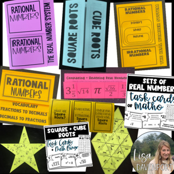 The Real Number System (Pre-Algebra Foldable & Activity Bundle)