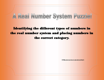 The Real Number System Puzzle