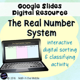 The Real Number System Sorting & Classifying Activity Using Google Slides
