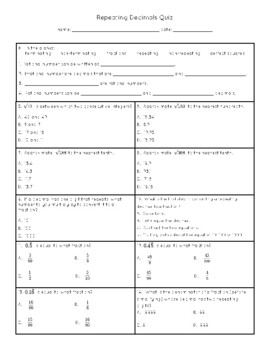The Real Number System Test 2