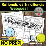 The Real Number System Webquest Rationals vs Irrationals DISTANCE LEARNING