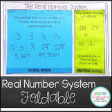 The Real Numbers Foldable (Irrational, Rational, Integers, Whole, & Counting)