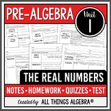 The Real Numbers (Pre-Algebra Curriculum - Unit 1) DISTANC