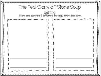The Real Story of Stone Soup ~ 30 pgs Common Core Activities