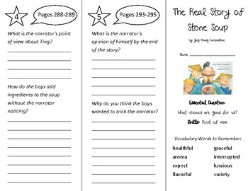 The Real Story of Stone Soup Trifold - Wonders 3rd Grade Unit 4 Week 1