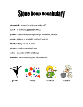 McGraw Hill Wonders - The Real Story of Stone Soup Vocabul