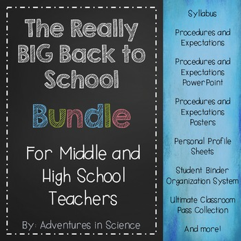 The Really BIG Back to School Bundle for Middle and High School Teachers