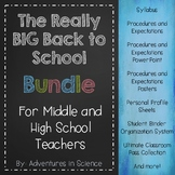 The Really BIG Back to School Bundle for Middle and High S