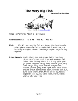 The Very Big Fish - Reader's Theater with Zeno Words