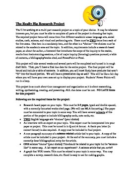 The Really Big Research Project