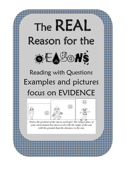 The Reason  Cause of Earths Seasons Nonfiction Reading with Review Questions