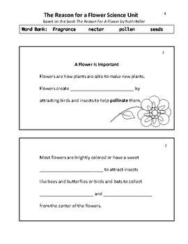 The Reason for a Flower ELA and Science Unit
