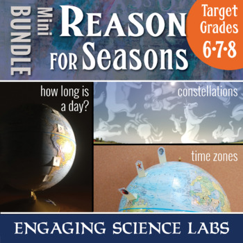 What Causes Seasons? 3 activities simulating Earth's orbit and tilt: Mini  BUNDLE