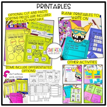 The Recess Queen {14 graphic organizers & 2 craftivities}