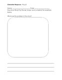 The Recess Queen Character Response Worksheet