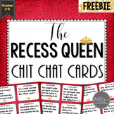 The Recess Queen Chit Chat Cards FREEBIE for Grades 3-6