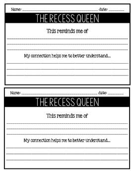 The Recess Queen / Read-Aloud