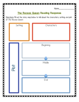The Recess Queen Reading Comprehension (CCSS) Bullying Unit
