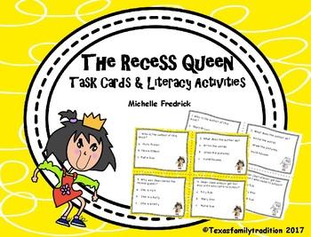 The Recess Queen Task Cards & Literacy Activities