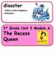 ReadyGen The Recess Queen Vocabulary 1st grade / Unit 2 , Module A