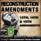 Reconstruction Amendments Primary Source Activity