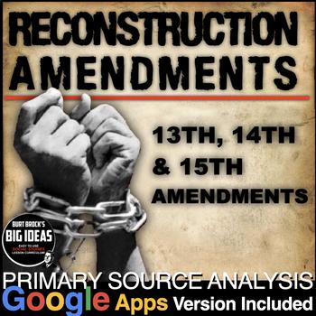 Reconstruction Amendments Primary Source Activity