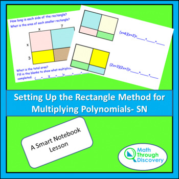 Algebra I:  Multiplying Polynomials - Setting up the Recta