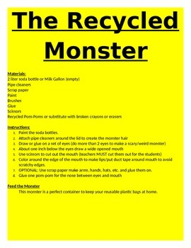 The Recycled Monster!