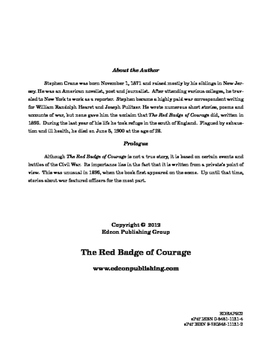 The Red Badge od Courage 10 Chapter Reader