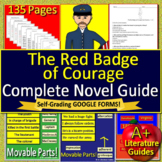The Red Badge of Courage Novel Study Print AND Paperless w/ Self-Grading Tests