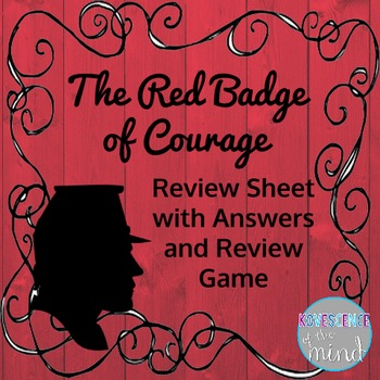 The Red Badge of Courage Review with Answers and Game