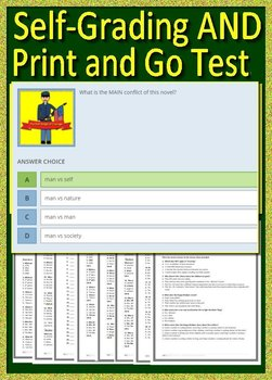 The Red Badge of Courage Test - Printable AND Self-Grading Questions and Answers