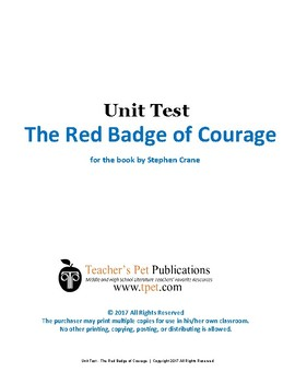 The Red Badge of Courage Unit Test