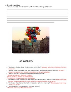 The Red Balloon- Movie Guide- English Version