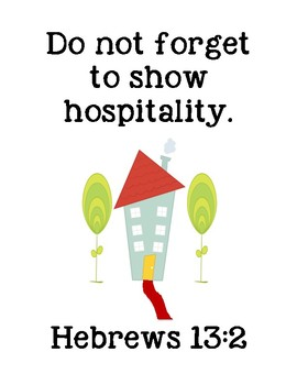The Red Carpet Bible Verse Printable (Hebrews 13:2)