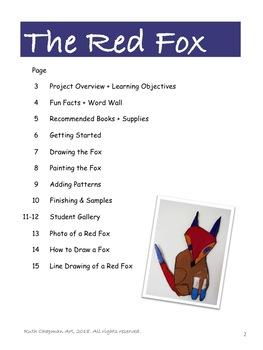 The Red Fox in Tempera