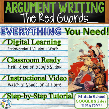 The Red Guards from Red Scarf Girl Text Dependent Analysis Argumentative Writing