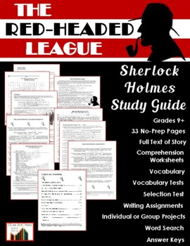 The Red-Headed League: Sherlock Holmes Study Guide (30 Pgs., Ans. Key, $8)