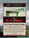 The Red Pony by John Steinbeck ELA Reading Literature Study Guide Complete!