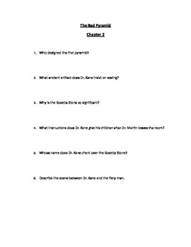 The Red Pyramid Chapter by Chapter Questions