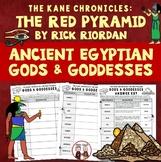 Red Pyramid Egyptian Gods and Goddesses Worksheet Activity