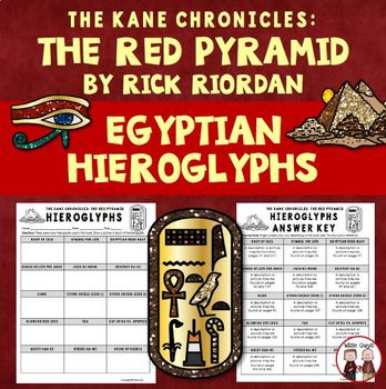 The Red Pyramid Egyptian Hieroglyphs Activity
