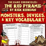 The Red Pyramid Egyptian Monsters and Vocabulary Activity