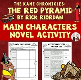 The Red Pyramid Main Characters Worskheet Activity